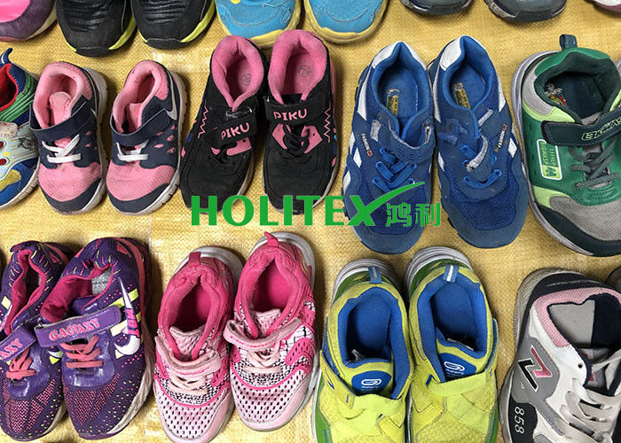 Children's Second Hand Clothes Shoes / Colorful Used Sports Shoes For Summer